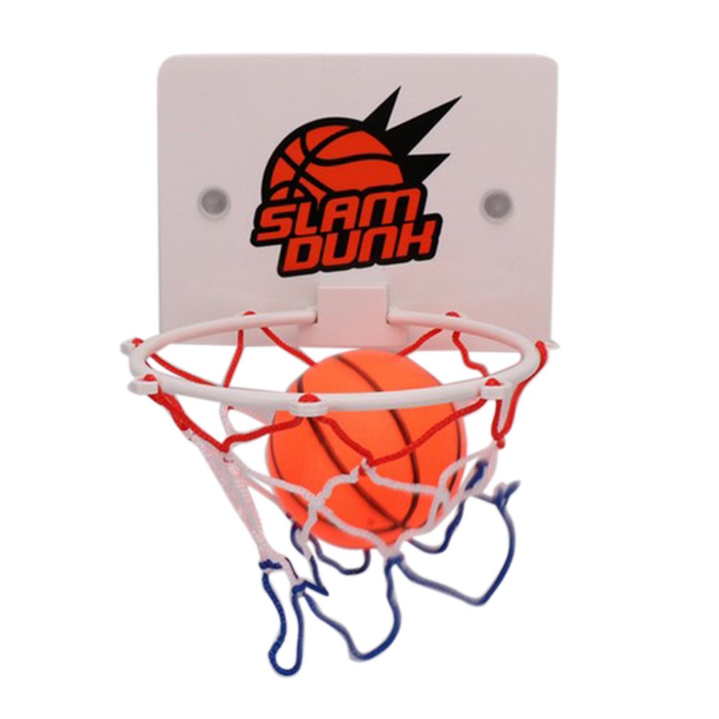 Portable Funny Mini Basketball Hoop Toys Kit Indoor Home Basketball <font><b>Fans</b></font> Sports Game Toy Set Kids Children Adults image