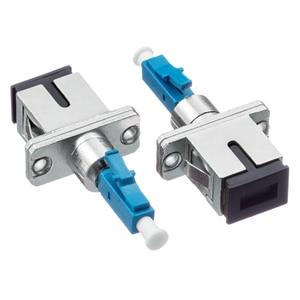 Image 2 - 2 pcs/lot SC femelle à LC mâle LC/UPC SC/UPC adaptateur à fibres optiques pour Fiber optique monomode Simplex pour queue de cochon