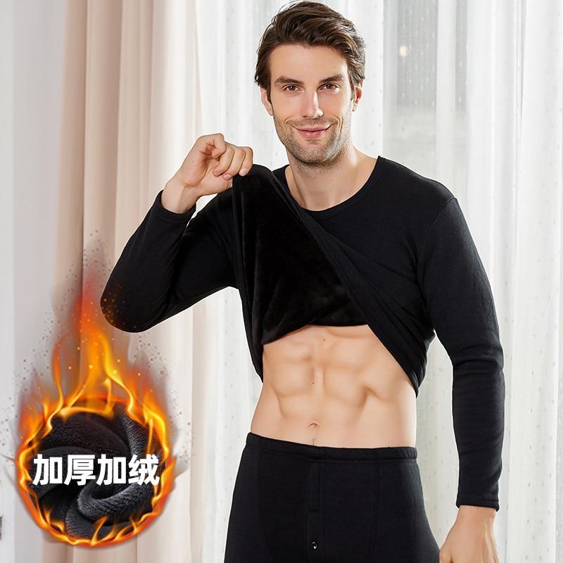 Мужское зимнее термобелье, топы, нижнее белье для тела, рубашка, осенняя Термоодежда, пижамы, одежда для сна, повседневные пуловеры