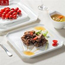 Высококачественная супер белая фарфоровая ресторанная посуда