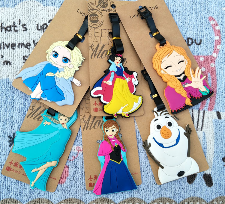 1pcs Elsa Princess Anime Travel Brand Luggage Tag Suitcase ID Address Portable Tags Holder Baggage Labels New