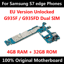 EU Version Offizielle Telefon Motherboard Für Samsung Galaxy S7 rand G935F G935FD Motherboard Mit Chips IMEI Android OS Logic Board