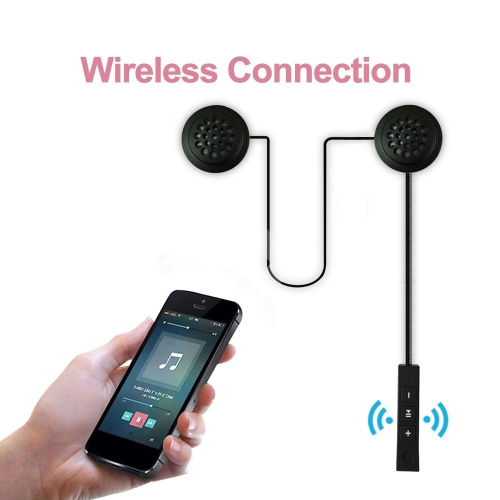 Беспроводные Bluetooth наушники мотоцикл домофон шлем Музыка гарнитура Hands-free с HD микрофоном для мотоциклиста