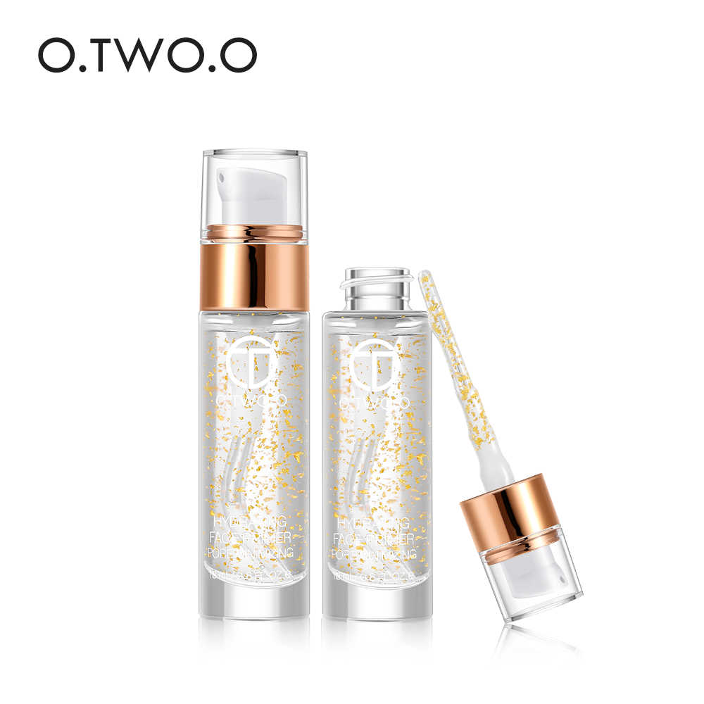 O.TWO.O Professional 24k Rose Gold Elixir Makeup Primer Anti-Aging Moisturizer Face Care Essential Oil Makeup Base Liquid 18ml