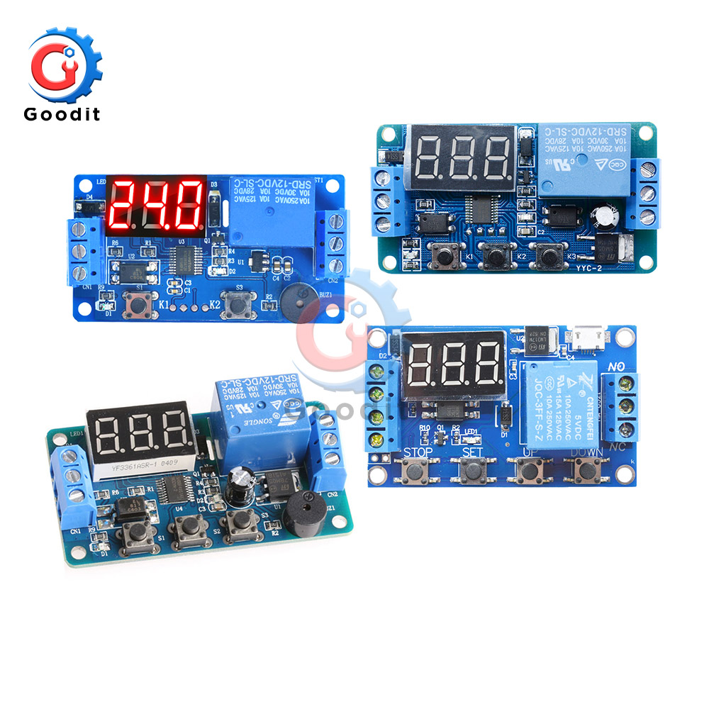 DC 12V Time Relay LED Display Automation Cycle Delay Timer Control Off Switch Delay Voltage Protection DDC-231 331 332 431