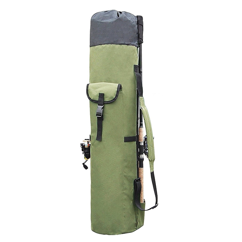 Fishing Bags Portable Multifunction Nylon Fishing Rod Storage Case Canvas Reel Organizer Travel Carry Pole Tools Bag|Rod Combo| |  - title=