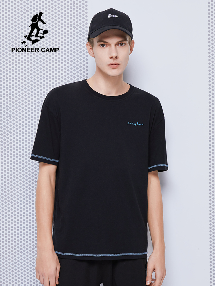 Pioneer Camp 2020 New Summer T-shirt Men Fashion Printed 100% Cotton Streetwear Men's Top Tees ADT0205035