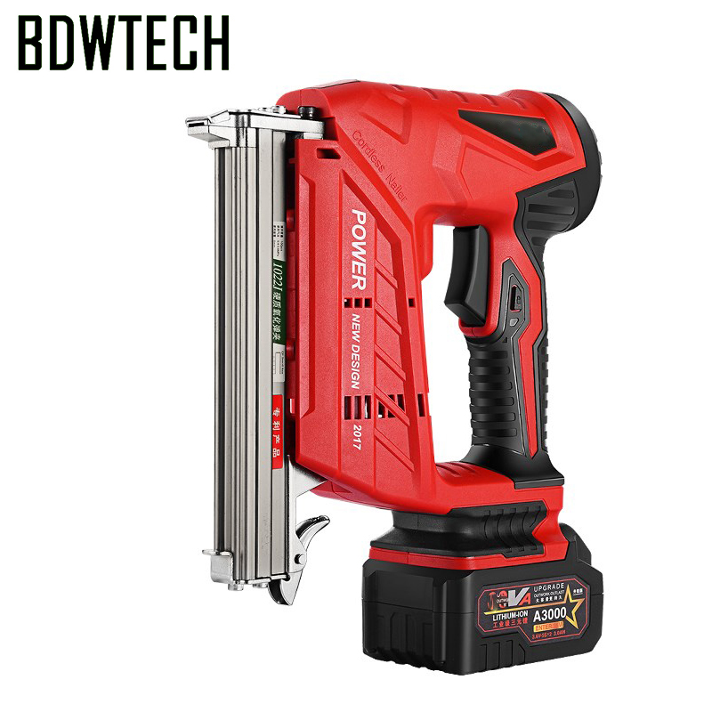 BDWTECH Cordless Nail Gun 20V Cordless Nail Gun F30 1022 422 Nail Gun With 2.0ah Battery Free Return