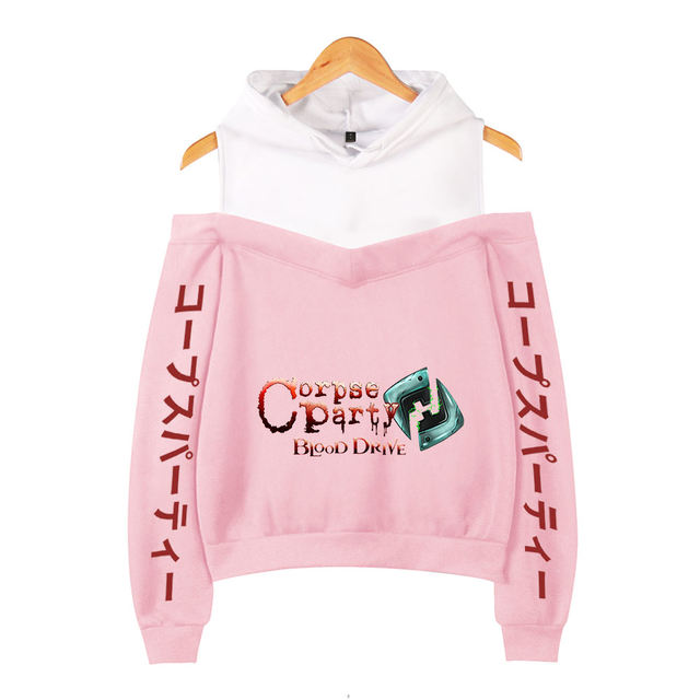CORPSE PARTY BLOOD DRIVE OFF SHOULDER HOODIE (25 VARIAN)