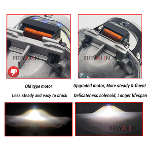Image 3 - Royalin Full Metal D1S D2S D3S D4S Bi Xenon Koplamp Lenzen Blauw Voor Hella 3R G5 Auto Licht Retrofit