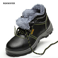 Mens Cow leather Casual Shoes Safety Labor Insurance Steel Toe In Work Sneakers Anti-smashing Anti-piercing