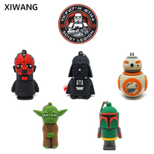 Hot usb flash drive 2.0 silicon flash memory stick 128GB 64GB 16GB 8GB 4GB Pen Drive Star Wars pendrive 32GB usb stick Best gift цена и фото