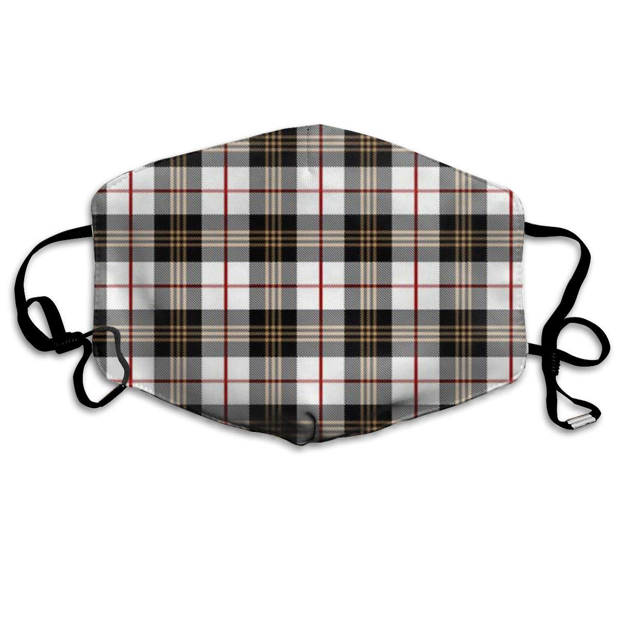 Mouth Mask Scottish Tartan Print Masks - Breathable Adjustable Windproof Mouth-Muffle, Camping Running For Women And Men