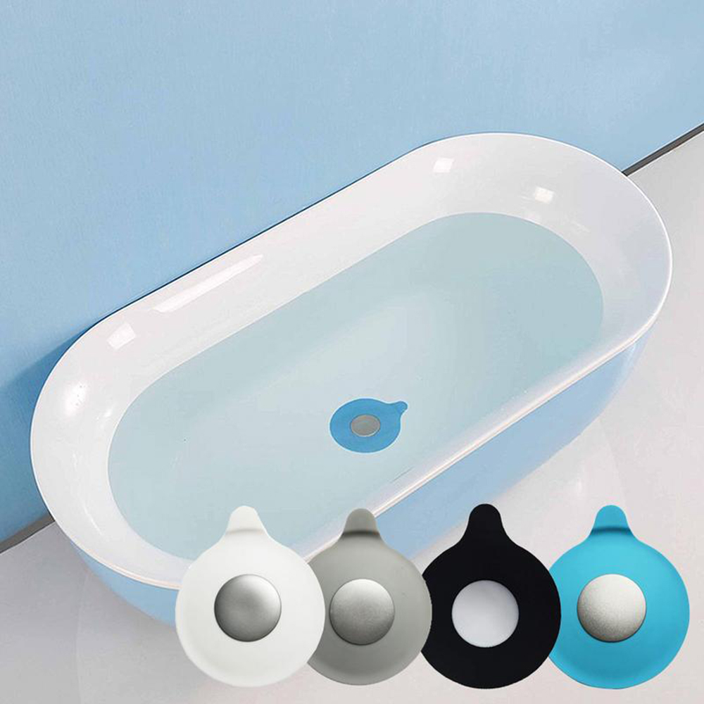 1 PC Kitchen Drop-shaped Water Plug With Silicone Sucker Type Floor Leakage Pool Cover Laundry Bathroom Tub Sink Stopper Filter