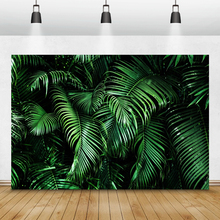 Laeacco Tropical Forest Green Plants Leaves Foliage Photography Backdrops Photographic Backgrounds Birthday Photocall Photozone