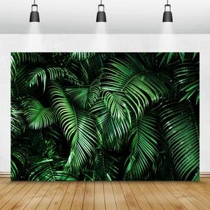 Image 2 - Laeacco Tropical Wald Grün Pflanzen Blätter Laub Fotografie Kulissen Fotografischen Hintergründe Geburtstag Photo Photozone