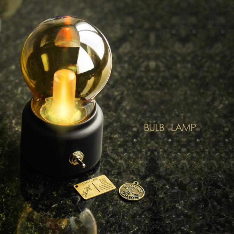 Винтаж светодиодный лампы ночной Светильник в стиле ретро USB 5V Перезаряжаемые Батарея настроение светильник письменный стол светильник s П...