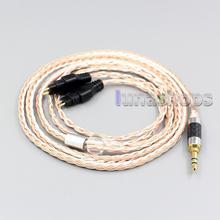 LN005980 3,5 мм 2,5 мм 4,4 мм XLR Сделано в Китае 16 ядер OCC Посеребренная смешанный кабель для наушников для Sennheiser HD660s HD650 HD600 HD580 HDxxx