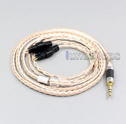LN005980 3.5mm 2.5mm 4.4mm XLR 16 rdzeni OCC posrebrzane mieszane kabel słuchawek dla Sennheiser HD660s HD650 HD600 HD580 HDxxx