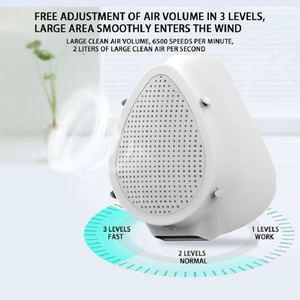 Image 3 - Air Purifier Respirator Electric Mask Dustproof Portable Oxygen Machine Mouth Mask Face Protective Mask Filter Dust Mask