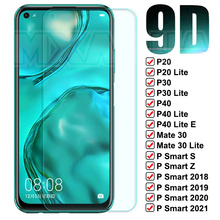 Защитное стекло 9D для Huawei Mate 30 P30 P40 Lite E, защитная пленка для экрана P20 Pro P10 Lite P Smart Z S 2021, закаленное стекло