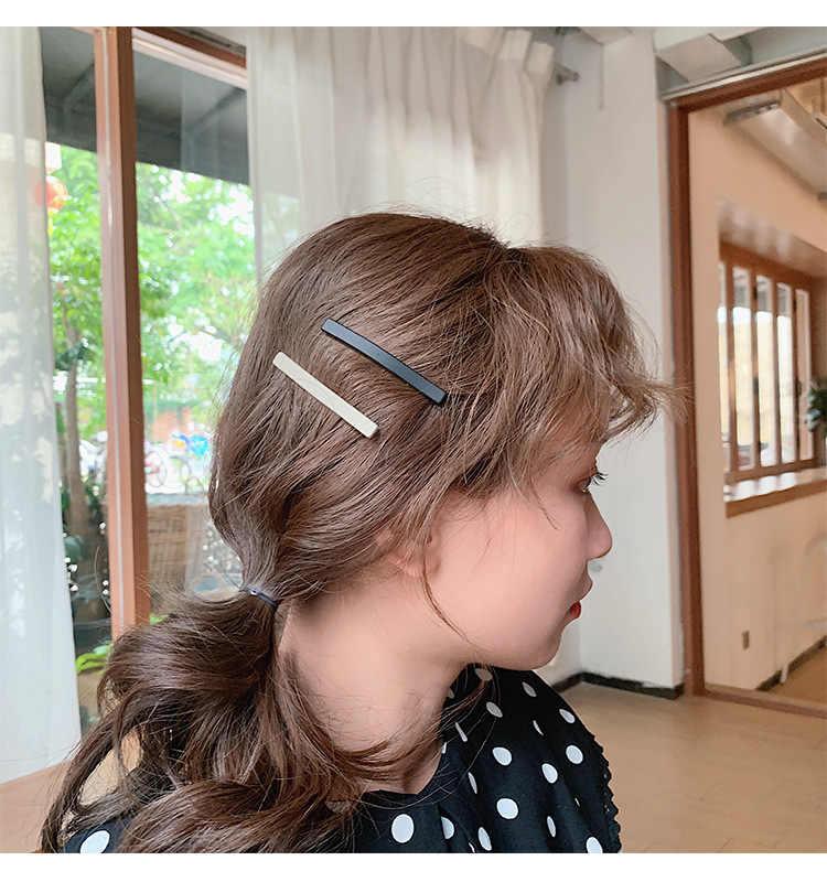 3 قطعة/المجموعة/المجموعة اللون متجمد مشبك شعر مشبك كلمة بسيطة الانفجارات كليب فتاة Morandi اللون كليب غطاء الرأس دبوس الشعر G1202