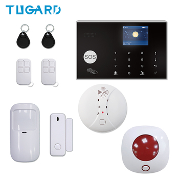 цена на Tuya 433MHz Wired WIFI GSM Alarm System For iOS Android APP Remote Control Wireless Home Security&Burglar Alarm System Kit