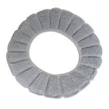 Washable Comfortable Cloth O-Shaped Warm Toilet Seat Cover Mat Pad For Bathroom Home Bathroom Toilet Cushion Pads(China)