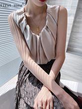 Бесплатная доставка Женская плиссированная атласная рубашка