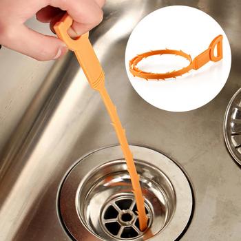 Zlew środek czyszczący do rur odpływowych plastikowy hak rurociąg czyszczenie włosów usuwanie prysznic toaleta ściek ściekowy długa linia narzędzia kuchenne i łazienkowe tanie i dobre opinie Z tworzywa sztucznego Support