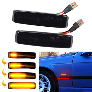 For BMW 5 Series E39 (09.1995-06.2003) Side Marker LED Dynamic Turn Signal Light Flasher Flowing Water Blinker Flashing Light