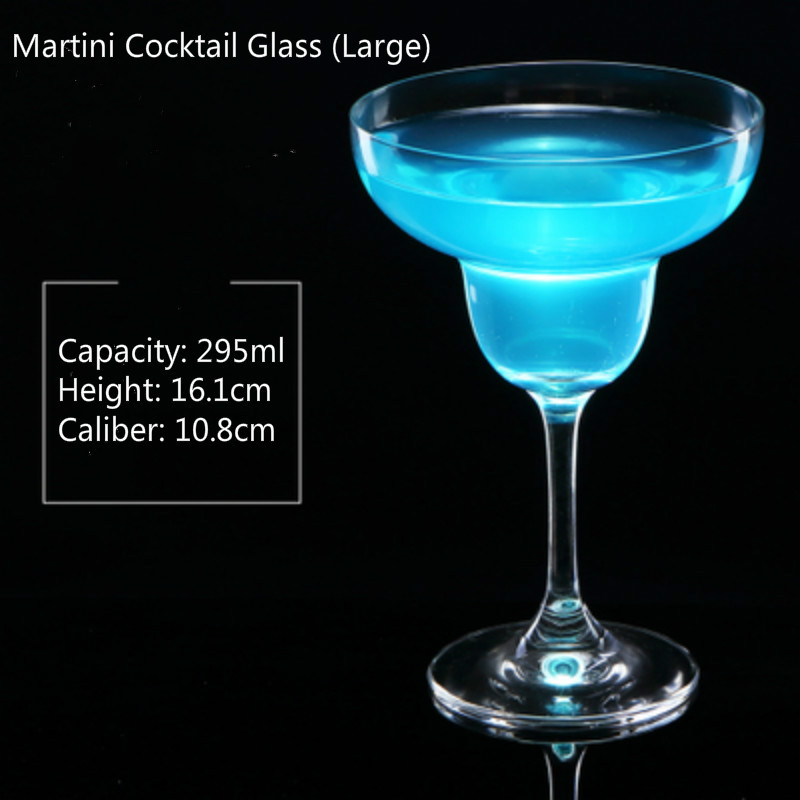 100-300ml Cocktail Glass Cup Wide Mouth Champagne Cup 6 Styles Dish Cup Goblet Martini Glass Wine Glass Bar Household Drink