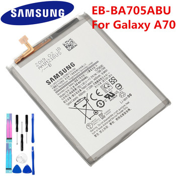 100% Original Battery EB-BA705ABU For Samsung Galaxy A70 A705 SM-A705 A705FN SM-A705W Replacement Phone 4500mAh batteria Akku 1