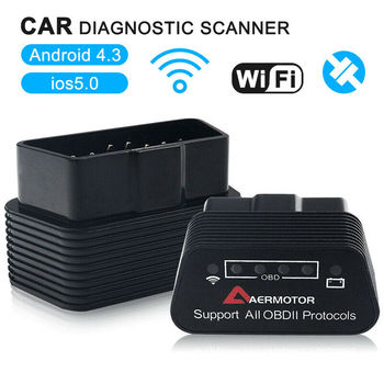 1PC New Arrival ELM327 WiFi V1.5 OBD Car Diagnostics Scanner Code Reader For iPhone iOS Android image