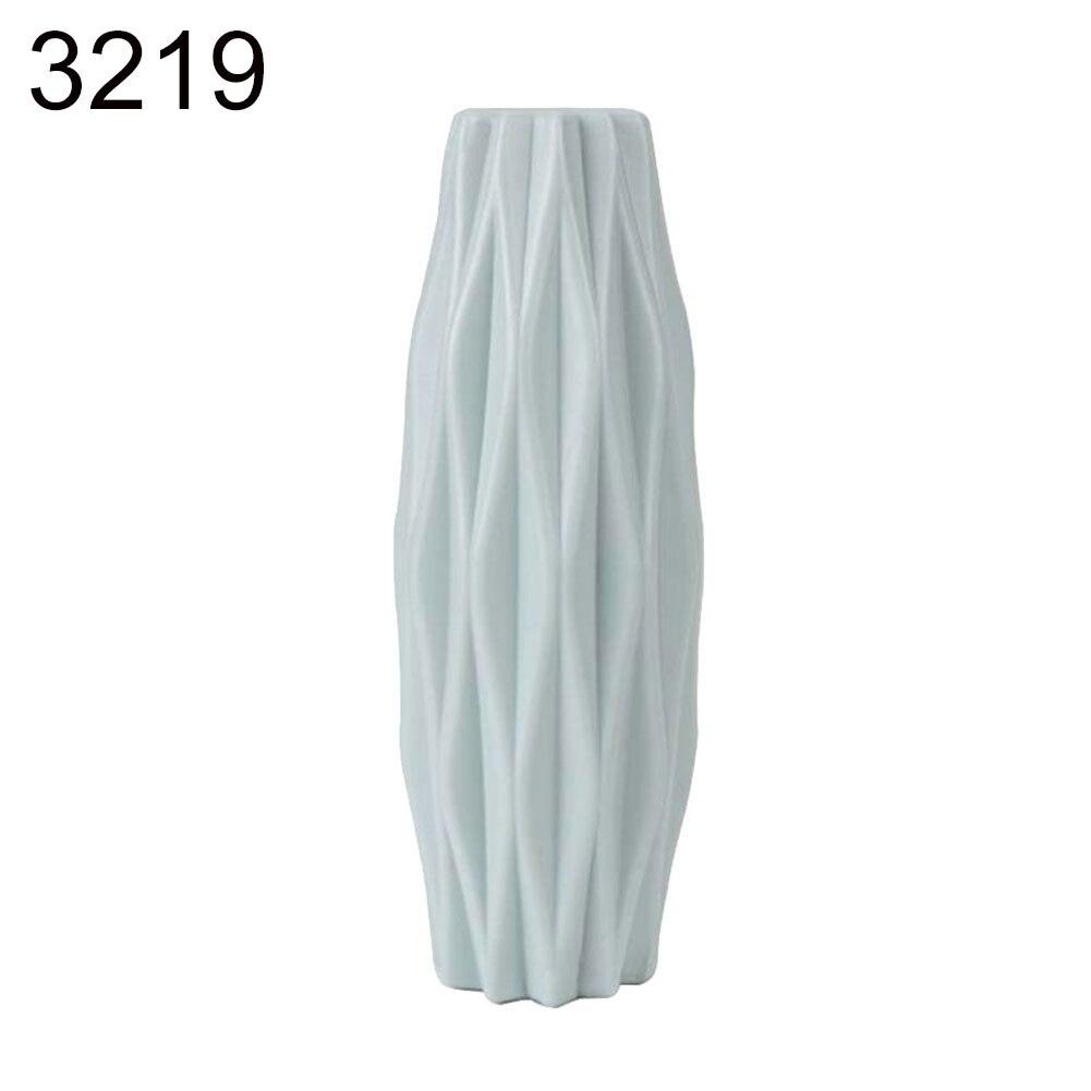 Пластиковый Небьющийся цветочный горшок ваза для кабинета прихожей дома свадебное украшение Цветочная корзина цветочные вазы скандинавские украшения - Цвет: Green  21cm x 7cm