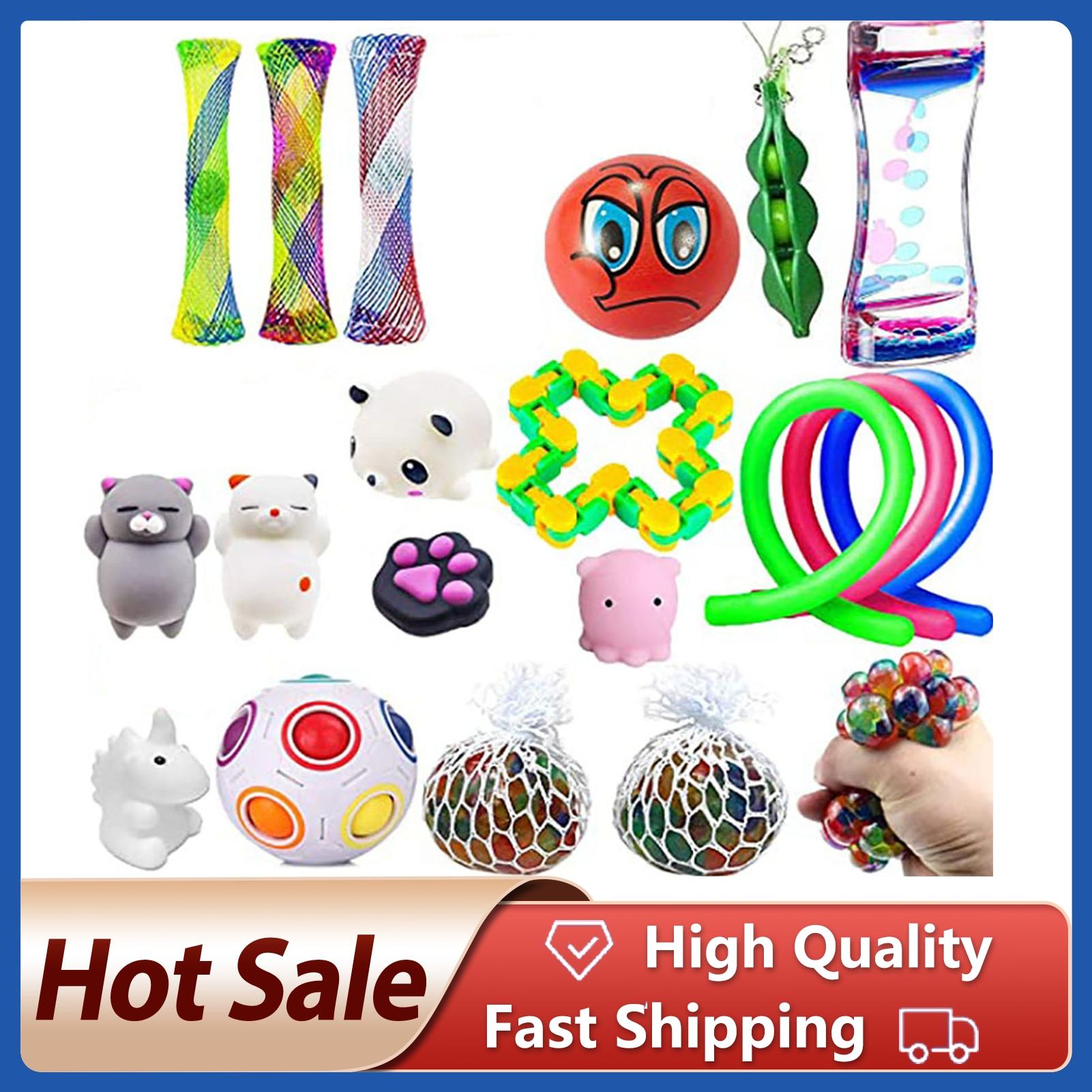 Brinquedos conjunto bola de mármores para o autismo tdah ansiedade alívio do estresse squeeze brinquedos pop bolha brinquedo sensorial para crianças adultos
