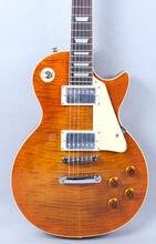 Guitarra eléctrica de alta calidad ¡llama de arce superior Buena calidad de sonido ¡Envío Gratis!