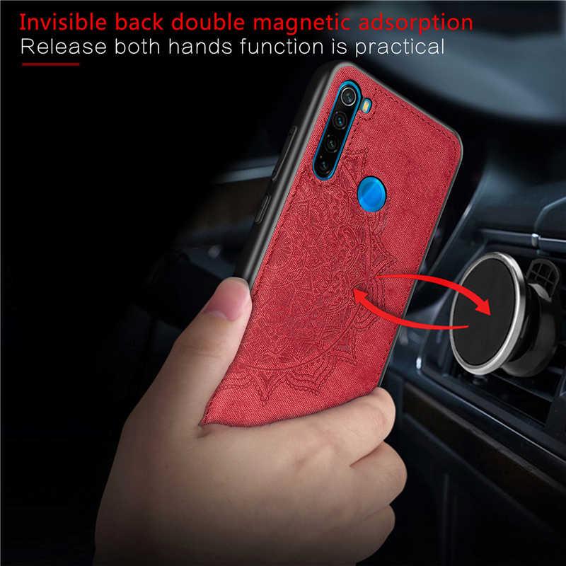 Pour Xiaomi Redmi Note 8 T étui magnétique tissu antichoc coton Capas couverture pour Redmi Note 8 T étui pour Redmi Note 8 T 8 T étui 6.3