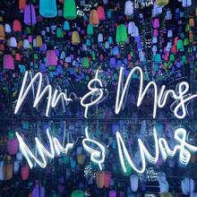 Niestandardowe pan pani Neon kinkiety wesele sklep okno restauracja dekoracje urodzinowe tanie tanio CN (pochodzenie) Plac Akrylowe acrylic neon tube indoor