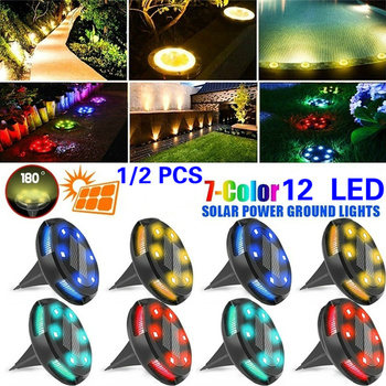 Фото - 12LED Four Side Colorful Solar Energy Underground Lamp Outdoor Waterproof Garden Garden Garden Table Lamp High Underground Lamp laloui lyesse energy geostructures innovation in underground engineering