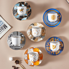 Fashion Turkish Style Luxury Ceramic Coffee Cup and Saucer Porcelain Coffee Set Tea Cup and Saucer Classic Drink Gift
