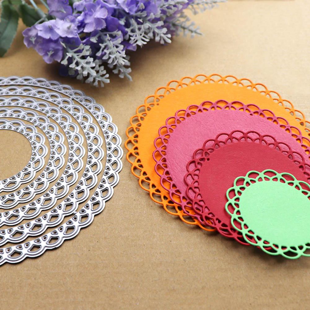 12cm Lace Round Die Circle Metal Cutting Dies Scrapbooking Die Cut for DIY Photo Album Card Craft Paper Embossing Supplies 2