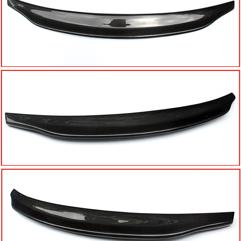 Fits For Audi A4 B9 Rear Trunk Lip Spoiler Duckbill wings Carbon fiber Caractere style A4a A4Q wing Rear Spoiler car styling 17 in Spoilers Wings from Automobiles Motorcycles