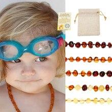 Классический янтарный браслет для прорезывания зубов 10 цветов/ожерелье для детей и взрослых лабораторные испытания Аутентичные 8 размеров ...