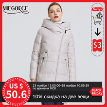 Warm Jacket Hood-Coat Collection Stand-Up-Collar MIEGOFCE Real-Bio-Parka Women's Windproof