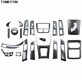 TOMEFON For Subaru Forester 2008 09 10 11 2012 Carbon Fibre Glasses Armrest Doors Handle Gear Cup Center Sonsole Decorated Frame image