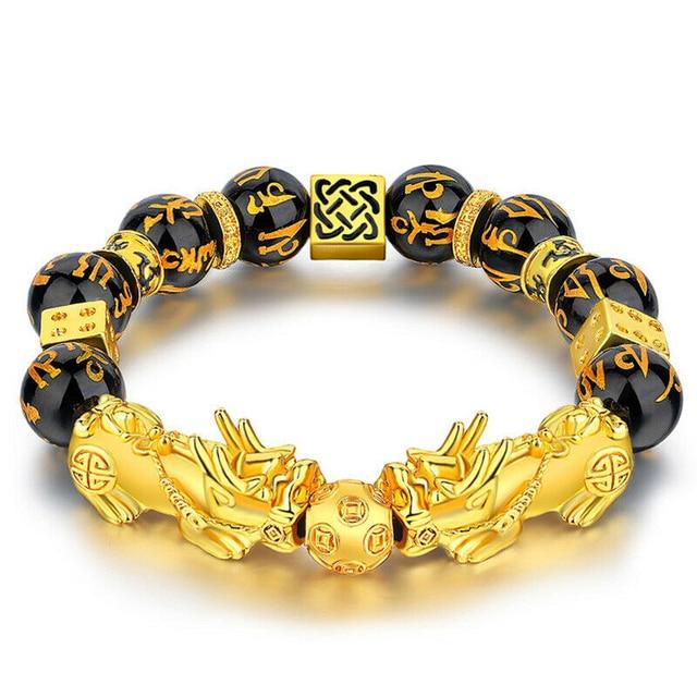 Pixiu-pulsera de guardián de la suerte para hombres y mujeres, pulseras de hilo de cuentas de la riqueza, Fengshui chino, Unisex 2