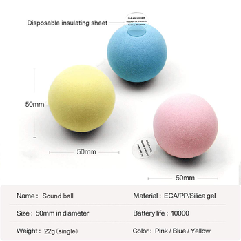 Smart Cat Toys Interactive Ball Catnip Cat Training Toy Pet Playing Ball Pet Squeaky Supplies Products Toy for Cats Kitten Kitty 6
