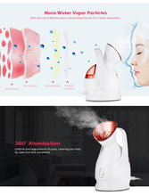 Deep Cleaning Facial Steamer Hot Mist Sprayer Steaming Machine Beauty Instrument Face Spraye Skin Care Tool itas1213 garment steamer iron steaming mini handheld steamer steaming sterilization beauty instrument