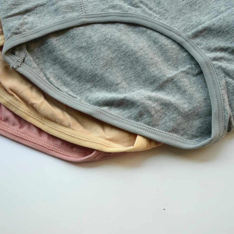 3 قطعة/الوحدة حجم كبير XL-6XL مثير عالية الخصر المرأة القطن الصلبة سراويل تنفس ملخصات الملابس الداخلية الملابس الداخلية سراويل